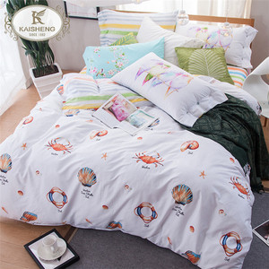 Wholesale Cheap 200TC Sateen Pigment Printing Pretty Bed Linen for Home