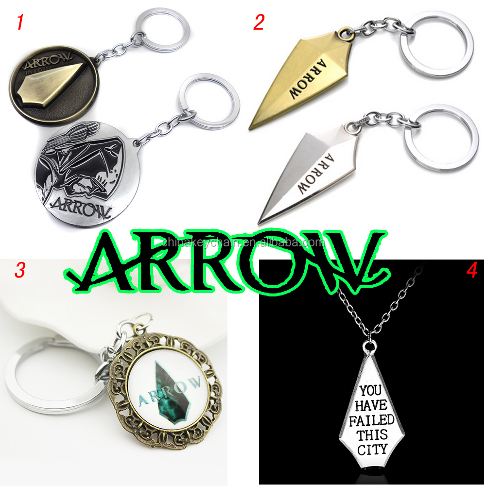 New American Green Arrow Super Heros Metal Key ring