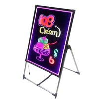 100*80CM Japanese Mitsubishi Acrylic surface LED Writing Board,Attractive Poster Board for Advertisement