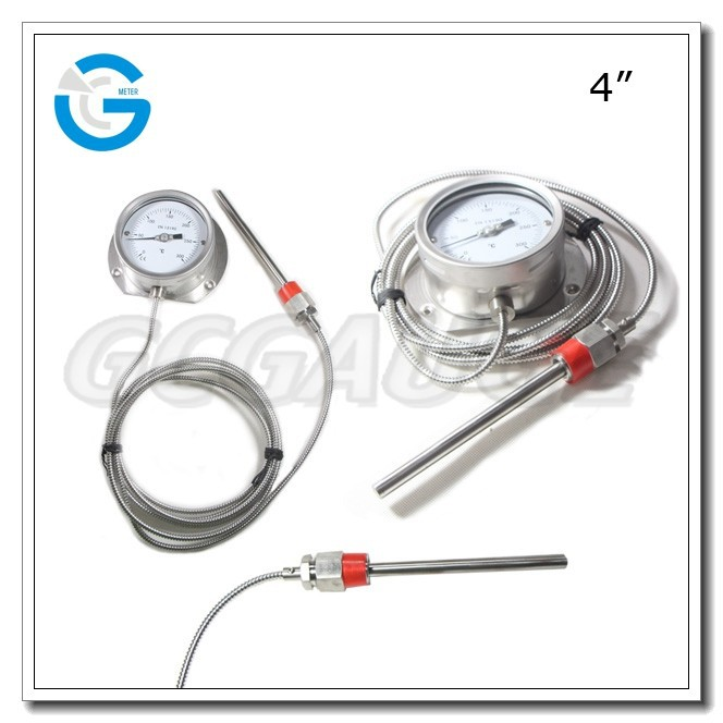 High quality stainless steel capillary remote reading thermometer