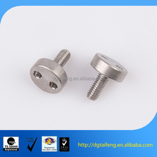 Nickle plating bolt with wide head for electronic equipment