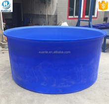 Roto mold 5000litre large poly plastic fish pond with drain for aquarium