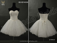 Top Selling Newest Style 2015 Sweetheart Chic Sexy Short Wedding Dresses