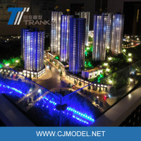 Architectural model making , building model with water and led material