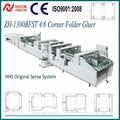 AUTOMATIC 4/6 Corner Paper Carton Box Folder Gluer Machine/ 1&2&3&4&6 Point