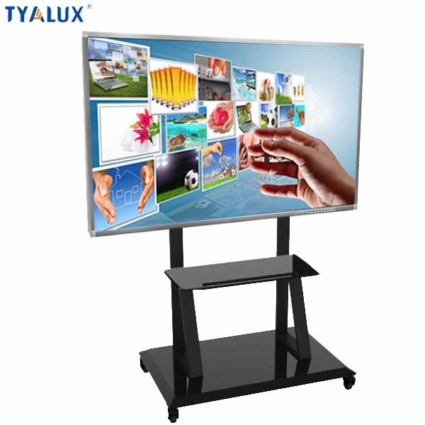 "65"" advertising equipment wifi signage player floor stand touch kiosk"