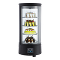 73L Round Type Countertop Cold Storage Cake Refrigerator Freezer Display Fridge Showcase for Cakes