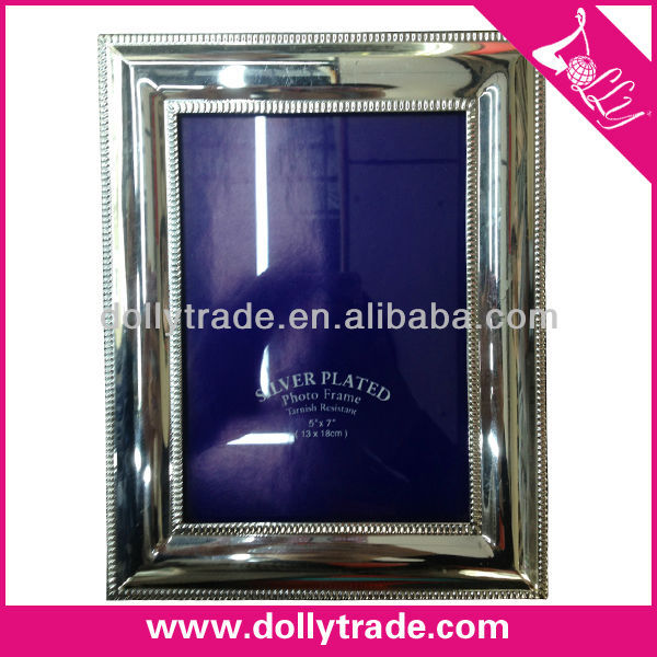 "5*7"" Square Silver Plated Plastic Photo Picture Frame"
