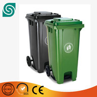 plastic dust bin 100l street trash can foot pedal medical waste container wheelie bin dustbin with cover