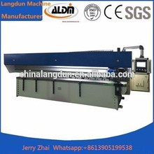 factory price vertical iron sheet v groover machine