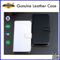 NEW!!! For Samsung Galaxy S5 Mini Luxury Genuine Leather Wallet Flip Case Back Cover Phone Accessories Laudtec