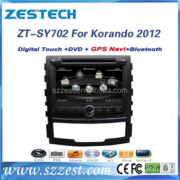 ZESTECH in-dash gps/dvd player/radio/3G/1080P, car radio 3g dvd gps for ssangyong korando