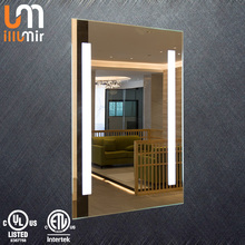 Factory Direct Selling High Quality 5050 SMD LED Modern Vanity IP44 Rated Led Lighted Hotel Bathroom Mirror With Light