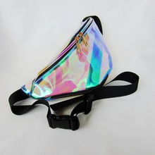 Transparent PVC Hologram clear fanny pack wholesale Holographic Waist bag fanny pack