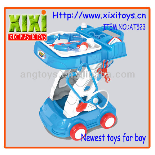 46Cm Kids plastic cart educational doctor table toy