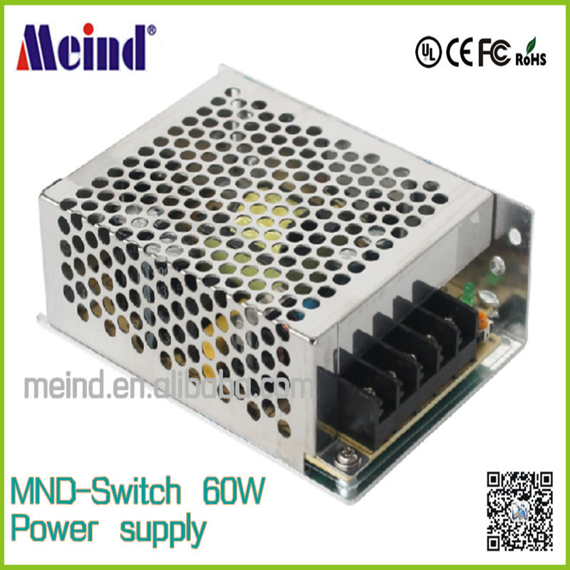 Meind 60w led drivers/60W Single Output Switching Power Supply/12v waterproof led driver/led driver dimmable 220v