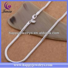 Best selling 925 silver plated necklace fashion fake silver necklace AN620
