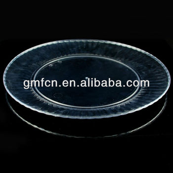 Hot selling catering food party wedding pudding serving plastic disposable plastic dish drainer tray