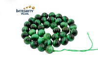 6mm 8mm 10mm Natural green tiger eye stone beads loose beads semi-manufactured goods Agate Crystal