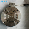 Vacuum Butterfly Valve with handle operated