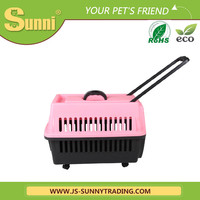 Customized dog carrier with wheels pvc dog house
