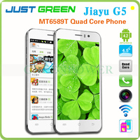 2013 Best China Mobile Phone Jiayu G5 Google Android 4.2.1 MTK6589T Quad Core 4.5 inch IPS Built in 3G GPS Bluetooth WiFi OTG