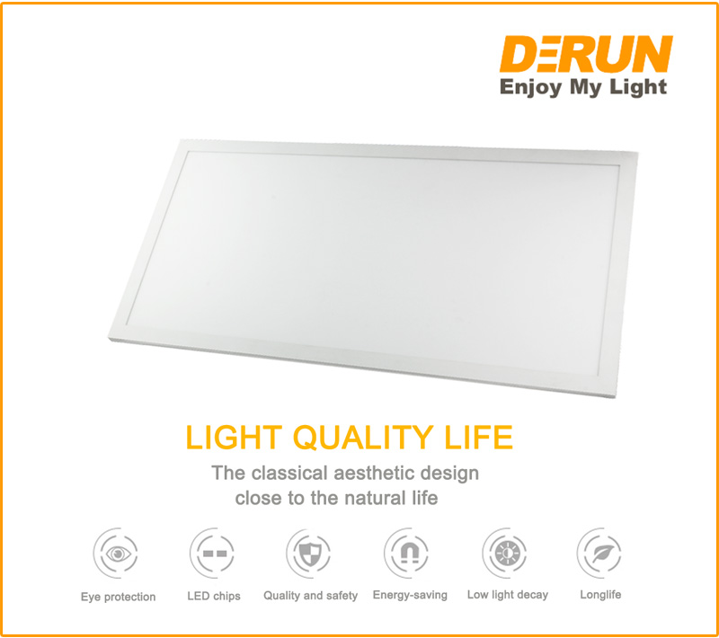 48W 64W 72W 60x120 Indirect LED Flat Panel Wall Light , LPL-EDGE