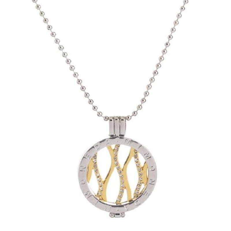 Yiwu Meise For Alloy Coin Plates Diamond Necklace Pendants