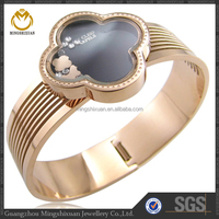 Best gift for Christmas stainless steel bracelets bangles wholesale fj jewelry