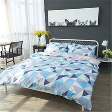 Simplicity geometric figure series high quality 100% microfiber polyester woven printed bed linen