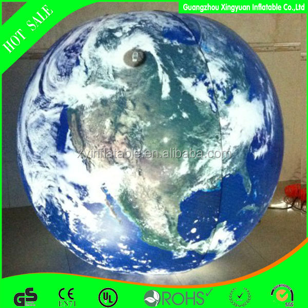 USED commercial inflatable earth with led lighting planet balloon for advertising decoration