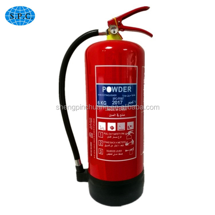 SASO 6kgs ABC portable dry chemical powder Fire Extinguisher