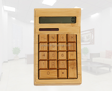 Eco-friend Handmade Popular Wood Solar Cashier Calculator