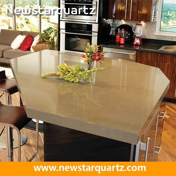 Quartz Island Kitchen Countertop Show Pieces For Home Decoration