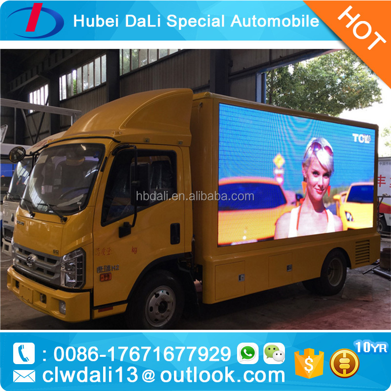 latest products in market DIP P10 outdoor advertising truck/trailer led display screen <strong>video</strong>