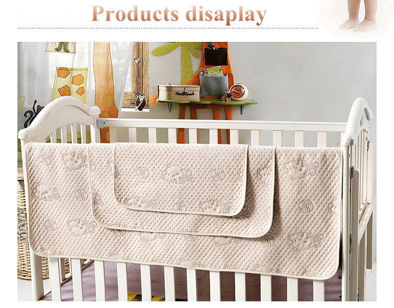 Organic colored cotton 4 layers TPU waterproof urine absorbent pad for baby sleep changing