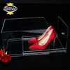 JINBAO transparent plexiglass clear acrylic shoe box with lid