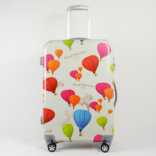 Customized Pattern <strong>ABS</strong> And PC Ballon Travel/BusinessTrolley Luggage