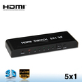 Factory Price 1080P 3D HDMI Splitter Switcher 5x1 for HDTV with IR