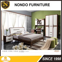 2017 latest Antique wooden box bed frame design Bed frame Queen size 3708B