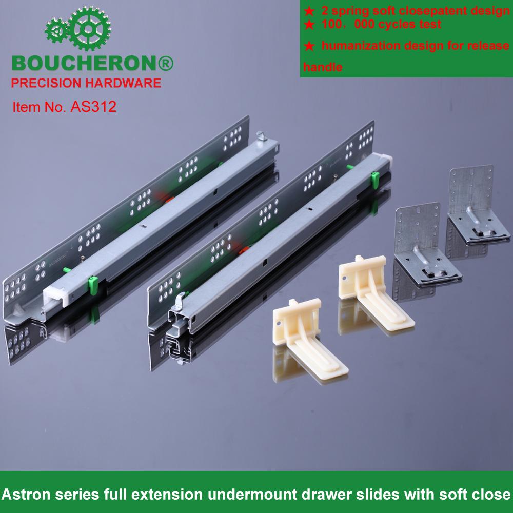As3416 Face Framed Drawer Slide Full Extension Undermount