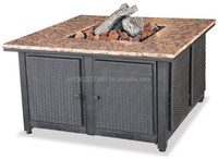 Uniflame GAD1200B LP Gas Outdoor Firebowl with Granite Mantel