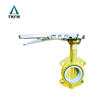 "TKFM 1.5"" cement rubber seal brass cement butterfly valve uae handle type with pin"