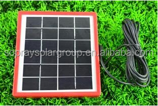 9v 3w small solar panel for charging DC solar lantern, solar fan