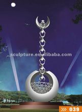 Monkeys Grasp Moon modern stainless steel ornament sculpture