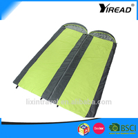 Two people together to use nylon camping portable camping sleeping bag