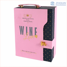 Customized wholesale decorative cardboard wine boxes