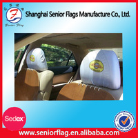 polyester excellent quality advertising custom headrest cover for car with country flag