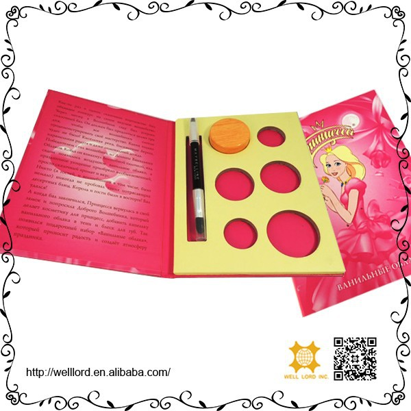 Fairy tales girls design stunning cosmetic small make up set carry palette kit
