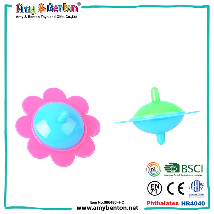 New Funny Promotional chinese child toy plastic spinning top